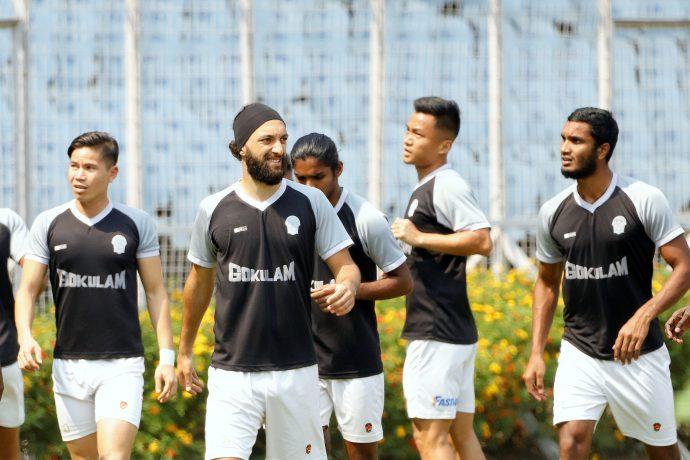 Gokulam Kerala FC players in training. (Photo courtesy: AIFF Media)