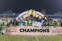 Hero I-League 2020/21 champions Gokulam Kerala FC. (Photo courtesy: AIFF Media)