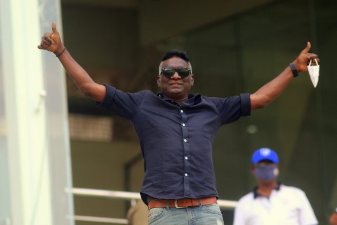 Indian football legend IM Vijayan at the sidelines of the Hero I-League action in Kolkata.