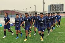 The Indian national team during training in Dubai, UAE. (Photo courtesy: AIFF Media)