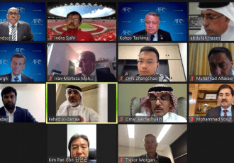 AFC Technical Committee video meeting on April 28, 2021. (Photo courtesy: Asian Football Confederation)