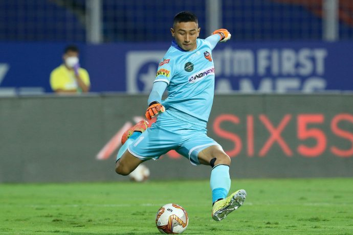 FC Goa goalkeeper Dheeraj Singh Moirangthem. (Photo courtesy: AIFF Media)