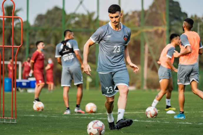 FC Goa's Edu Bedia in training. (Photo courtesy: FC Goa)