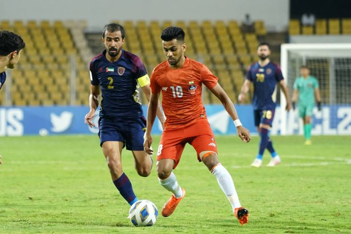 FC Goa's Brandon Fernandes in action against Al Wahda FC in an AFC Champions League encounter. (Photo courtesy: FC Goa)
