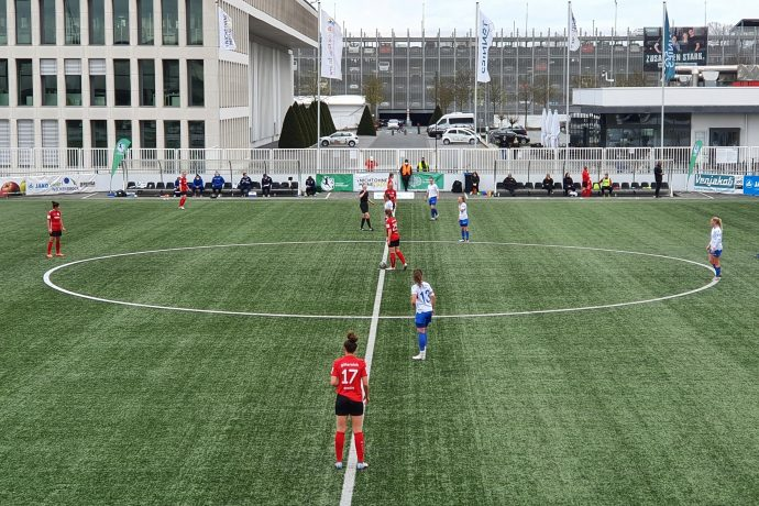 2nd Division Women's Bundesliga: FSV Gütersloh 2009 vs FC Carl Zeiss Jena at the Tönnies Arena. (Photo: CPD Football)