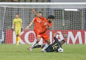 FC Goa's Glan Martins in action against Al-Rayyan SC in an AFC Champions League encounter. (Photo courtesy: FC Goa)