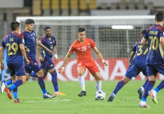 FC Goa's Ishan Pandita in action against Al Wahda FC in an AFC Champions League encounter. (Photo courtesy. AIFF Media)