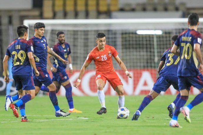 FC Goa's Ishan Pandita in action against Al Wahda FC in an AFC Champions League encounter. (Photo courtesy. AIFF Media)