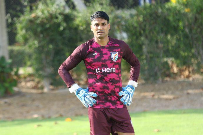 Indian national team goalkeeper Subhasish Roy Chowdhury. (Photo courtesy: AIFF Media)