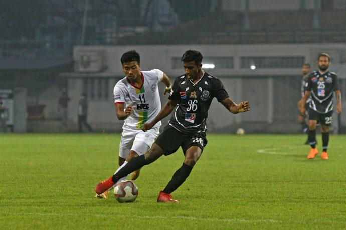 Mohammedan Sporting Club midfielder Suraj Rawat (#36) in action in the Hero I-League. (Photo courtesy: Mohammedan Sporting Club)