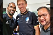 Chris Punnakkattu Daniel, Julian Nagelsmann and Arunava Chaudhuri. (© CPD Football)