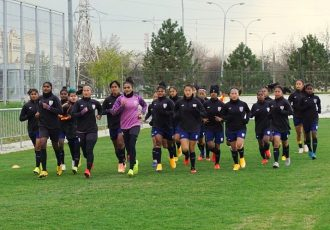 Indian women's national team player during a training session. (Photo courtesy: AIFF Media)