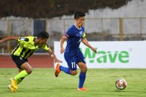 Bengaluru FC skipper Sunil Chhetri in action against Tribhuvan Army FC in an AFC Cup encounter. (Photo courtesy: Bengaluru FC)
