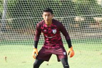 Indian national team goalkeeper Dheeraj Singh Moirangthem in training. (Photo courtesy: AIFF Media)