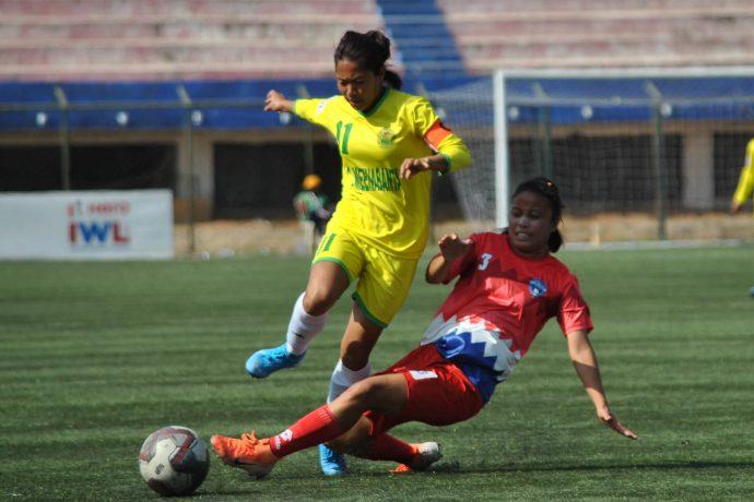 Hero Indian Women's League match action. (Photo courtesy: AIFF Media)
