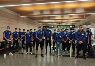 The Indian national team squad at the Hamad International Airport in Doha, Qatar. (Photo courtesy: AIFF Media)