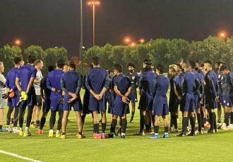 Head coach Igor Štimac and the Indian national team squad. (Photo courtesy: AIFF Media)