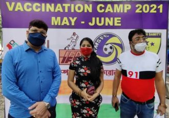 The Indian Football Association (IFA) has teamed-up with local Kolkata clubs Southern Samity FC and Kalighat Milan Sangha FC to begin its vaccination drive in the city. (Photo courtesy: AIFF Media)