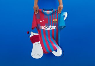 Modern-day style, time-tested values guide FC Barcelona's 2021-22 home kit. (Photo courtesy: Nike)