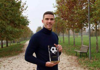 German Football Ambassador Public Award 2020 winner Robin Gosens. (© Deutscher Fußball Botschafter e.V.)