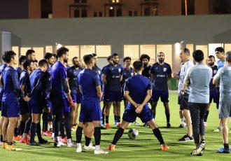 Head coach Igor Štimac and the Indian national team during a training session in Doha, Qatar. (Photo courtesy: AIFF Media)