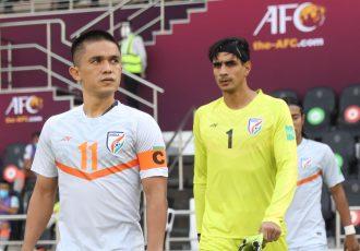 Captain Fantastic Sunil Chhetri lead the Indian national team to the pitch. (Photo courtesy: AIFF Media)