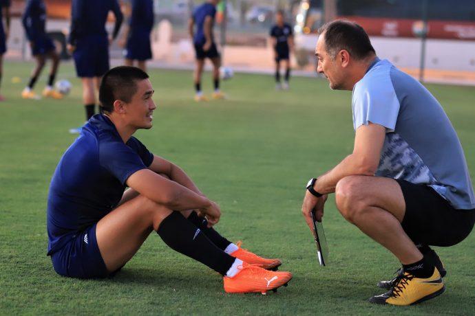 Indian national team captain Sunil Chhetri and head coach Igor Štimac. (Photo courtesy: AIFF Media)
