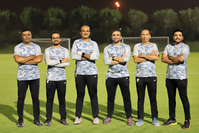 The medical and the support staff of the Indian national team. (Photo courtesy: AIFF Media)