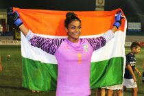 Indian women's national team goalkeeper Aditi Chauhan. (Photo courtesy: AIFF Media)