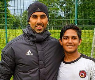 Chris Punnakkattu Daniel and Hrishikesh Namboothiri during an exposure trip to Borussia Dortmund and Remscheid in May 2019.