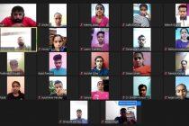 Participants of the Himachal Pradesh Football Association (HPFA) online quiz competition. (Photo courtesy: AIFF Media)