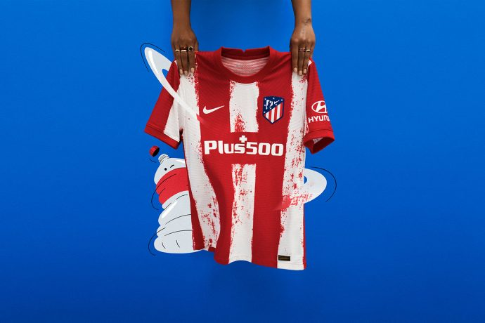 The Stripes of Old are revived in Atlético de Madrid's new home kit for the 2021/22 season. (Photo courtesy: Nike)