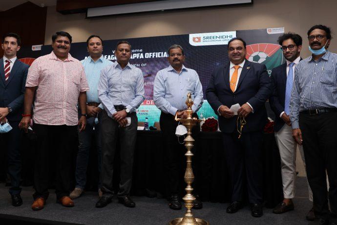 Sreenidhi Deccan FC launch ceremony in Visakhapatnam, Andhra Pradesh. (Photo courtesy: AIFF Media)