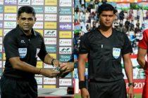 Indian match officials Tejas Nagvenkar and Sumanta Dutta. (Photo courtesy: AIFF Media)