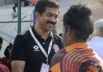 Gokulam Kerala FC president VS Praveen. (Photo courtesy: AIFF Media)