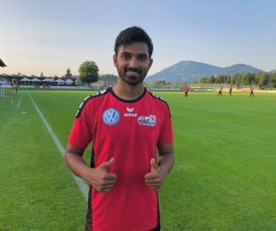 Austria's USK Anif sign Indian youngster Vedaant Nag. (Photo courtesy: Vedaant Nag)
