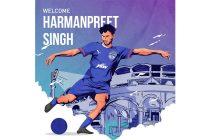 Bengaluru FC welcome their new signing Harmanpreet Singh. (Image courtesy: Bengaluru FC)