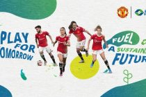Manchester United teams up with Renewable Energy Group to create a more sustainable future. (Graphic: Business Wire)