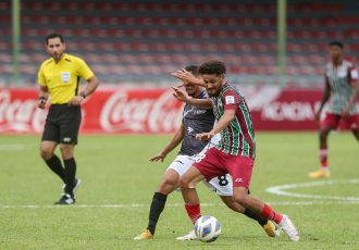 AFC Cup Group D match action between ATK Mohun Bagan and Bashundhara Kings at the National Football Stadium in Male, Maldives. (Photo courtesy: AIFF Media)