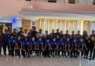 The Indian Women's national team at their team hotel in Jamshedpur. (Photo courtesy: AIFF Media)
