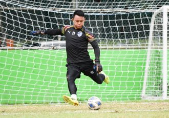 Bengaluru FC goalkeeper Lalthuammawia Ralte in training. (Photo courtesy: Bengaluru FC)