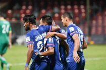 Bengaluru FC players celebrate a goal. (Photo courtesy: Bengaluru FC)