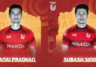 FC Bengaluru United sign former India stars Sanju Pradhan and Singam Subhash Singh. (Image courtesy: FC Bengaluru United)