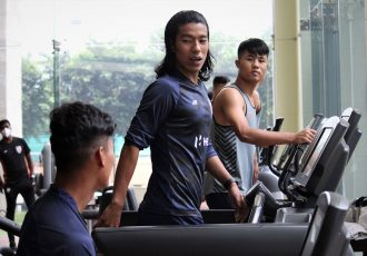 Indian national team players at the gym. (Photo courtesy: AIFF Media)