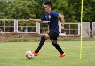 Bengaluru FC captain Sunil Chhetri in training. (Photo courtesy: Bengaluru FC)