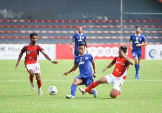 Bengaluru FC midfielder Suresh Singh Wangjam in action against Bashundhara Kings in an AFC Cup encounter at the National Stadium in Male, on Saturday, August 21, 2021. (Photo courtesy: Bengaluru FC)