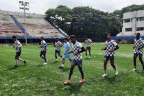 Ahmedabad Racquets Academy FC (ARA FC) players in training. (Photo courtesy: AIFF Media)