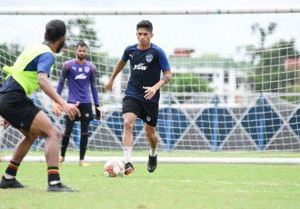 Bengaluru FC midfielder Ajay Chhetri in training. (Photo courtesy: Bengaluru FC)