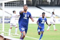 Bengaluru FC forward Harmanpreet Singh celebrates after scoring against the Indian Navy Football Team in a Durand Cup 2021 match. (Photo courtesy: Bengaluru FC)