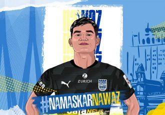 Mumbai City FC welcome their latest signing Mohammad Nawaz. (Image courtesy: Mumbai City FC)